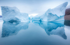 The Giants (yan08865) Tags: sky mountain water iceberg sea seascape landscape rock pavlis travel blue ice glaciers scoresbysund greenland arctic nature earth icey solo solitude ocean sail sailing boat views photography wide expedition fjord harefjord
