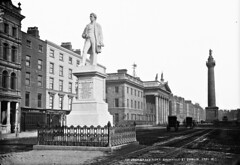 Sir John Gray all shiny and new (National Library of Ireland on The Commons) Tags: robertfrench williamlawrence lawrencecollection lawrencephotographicstudio thelawrencephotographcollection glassnegative nationallibraryofireland sirjohngray statue monument oconnellstreet sackvillestreet nelsonspillar 1879 johngray doctor politician vartry dublin 1880s memorial tweedall lamprey cutler lesage