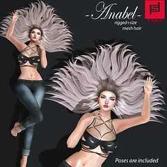 Anabel (FABIA.HAIR) Tags: 3d fashion fashionlook virtyal virtuallife mesh meshhair hair rigged moda woman beauty look piktures fabia nice meef head special second secondlife sl sweet event hairstyle life lovely avatar spam style shopping new release best love everyday art