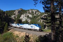 No. 6 at T-29 (Moffat Road) Tags: amtrak no6 6 californiazephyr train railroad locomotive ge p42dc 74 tunnel trees cliff pincliffe colorado passengertrain t29 tunnel29 co upmoffattunnelsub formerriogrande