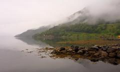 Åkra juni -17 (bjarne.stokke) Tags: tåke fog speiling reflections hordaland norway norge norwegen noreg langlukkertid