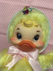 Made this bonnet! (ggsdolls✿2) Tags: vintage rushton toy company easter duck handmade bonnet by me