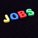 Colorful jobs word