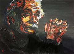 Einstein (guenterleitenbauer) Tags: leitenbauer guenter günter einstein albert acryl acryllic acrylic painting gemälde bild gunskirchen austria 2018