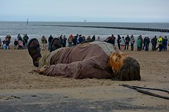 Shipwrecked Giant (James O'Hanlon) Tags: giants giant liverpool spectacular liverpoolspectacular liverpoolsdream dream liverpools 3 3giants threegiants new brighton newbrighton wirral beach fortperchrock royal de luxe royaldeluxe jeanluc courcoult jeanluccourcoult dog walk drink