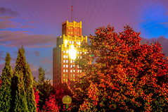 Niagara Falls NY Art Deco in Autumn (PetrusJohannes) Tags: niagarafalls artdeco newyork autumn sunset nikkor70200vr architecture