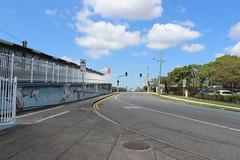Street frontage of Wooloowin Station, Brisbane (philip.mallis) Tags: wooloowinstation brisbane railwaystation trainstation road street