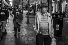 The Man on the Street (Leanne Boulton (Away)) Tags: people portrait monochrome urban street candid portraiture streetphotography candidstreetphotography candidportrait eyecontact candideyecontact streetlife old elderly man male face eyes expression mood feeling atmosphere hat sociallandscape streetscene tone texture detail depthoffield naturallight outdoor light shade city scene human life living humanity society culture lifestyle canon canon5dmkiii 35mm ef2470mmf28liiusm black white blackwhite bw mono blackandwhite glasgow scotland uk