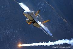 "F/A-18C ""Beast One One"" at AXALP (Artyom Anikeev) Tags: avia aviation airplane artyomanikeev anikeev airforce mcdonnelldouglas f18 fa18 swiss switzerland axalp airshow planespotting plane spotting military"