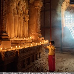 Silence. Old Bagan, Myanmar (Mlenny!) Tags: adult asia bagan buddha buddhism candle characters dust females mandalay monastery monument myanmar oldbagan pagoda people pray praying religion serenepeople silence spirituality standing statue sunbeam templebuilding tomb tranquility travel veil vertical woman women worship youngwomen