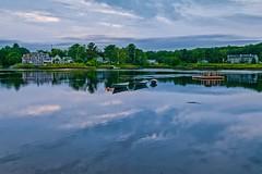 Remembering Summer (Bud in Wells, Maine) Tags: hss kennebunkport maine pse dories lightroom reflections sky clouds summer kennebunkriver