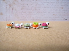 134-turtles 10mm (1) (tinyteensdolls) Tags: amigurumi crochet crochetmini craft crochettoy crochetminiature crochetturtle turtle miniature mini microcrochet micro minicrochet miniamigurumi toy tinyamigurumi tiny threadcrochet small handmade