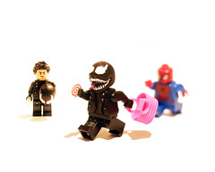 Come at me bro! (MicroMee) Tags: lego venom spider man minifigure custom marvel