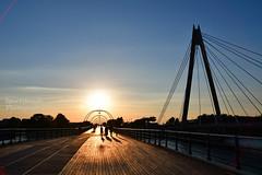 Sunset at Southport (Sportybeach Photography (Jonnywalker)) Tags: southport merseyside coast seaside sky pier southportpier bridge sea beach themarinewaybridge marinewaybridge skies bluesky sunset decking tramway