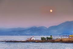 Moonrise Malia Crete (jgokoepke) Tags: moonrise malia crete greece moon mediterranean hdr mhdr