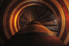 """La scala a chiocciola (""""Marco50"""" Marco Mattei) Tags: torre scala chiocciola spirale spiral gradini staircase architettura escaleras castello"""