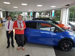 Mrs Grieve has returned to Charters Citroen and this time has treated herself to this new C1 Urban Ride! Thank you for your continued customer Mrs Grieve, we wish you many happy motoring miles :) (Charters Citroen) Tags: citroen aldershot hampshire fleet surrey