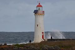 Griffith's Island Lighthouse (blachswan) Tags: portfairy portfairypelagic victoria australia southernocean southernexplorer pelagicboattrip pelagics pelagic griffithsislandlighthouse lighthouse waves portfairylighthouse griffithsisland