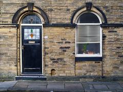 Saltaire 004 (Peter.Bartlett) Tags: lunaphoto urbanarte urban door window uk m43 microfourthirds unitedkingdom facade olympuspenf peterbartlett doorway westyorkshire colour shipley england gb