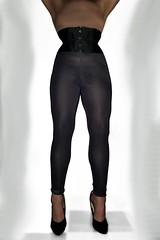 CorsetlegFront (yoveoeltube) Tags: corset cincher waist tight training laced legs leggins shiny sexy shoes stilettos soles heels high highheels extreme fetish ellie 7inch pumps patent