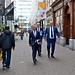 Minister Grapperhaus  aan de wandel