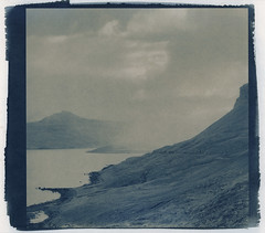 rainshower, lighter and backwards (lawatt) Tags: rain squall clouds coast fjord slope djúpavík árneshreppur westfjords iceland altprocess cyanotype traditional revereplatinum