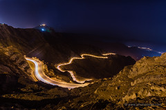 Light trails on Mountains (Photonistan) Tags: nightphotography lighttrail mountain photonistan valley stars nightsky road