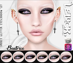 [LeLuck]Smokey Glitter Eyeshadow Beatrice (Sunkora) Tags: secondlife photoshop darkness event new eyeshadow glitter smokey catwa omega applier