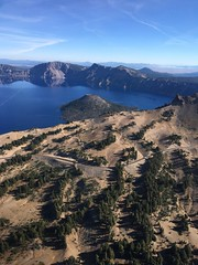 2018. Aerial view of Wizard Island and the West Rim. Crater Lake National Park, Oregon. (USDA Forest Service) Tags: usda usfs forestservice stateandprivateforestry foresthealthprotection region6 r6 craterlakenationalpark craterlake aerialsurvey 2018 aerialphoto oblique oregon whitebarkpine aerialdetectionsurvey forestinsect forestdisease ads bensmith wizardisland westrim