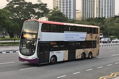 SG5302J, Nicoll Highway, Singapore, October 5th 2018 (Southsea_Matt) Tags: sg5302j route70 sbstransit nicollhighway singapore october 2018 autumn iphone7 bus omnibus transport vehicle wright eclipse gemini volvo b9tl triaxle