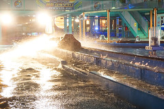 Amusement Park in the Rain - 05 (gori-jp) Tags: night nightshot rain wet splash water light backlight amusementpark amusement yokohama minatomirai cosmoworld