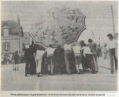 1975, poussette pour le char des reines