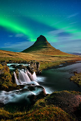 Magic Kirkjufell (FredConcha) Tags: iceland kirkjufell mountain northernlights aurora landscape nature fredconcha stars night waterfall river volcanic rocks