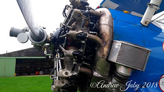 Stearman engine (First Choice 360 Mediaworks) Tags: aerosuperbatics flying circus wingwalking team wing walkers raf rendcomb breitling boeing stearman stunt plane stuntplane red white blue hangar airfield propeller engine 450hp