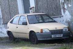 1986 Vauxhall Astra (occama) Tags: c307 stf 1987 vauxhall astra old car cornwall uk rare yellow british opel c307stf