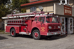 Fire Museum (Curtis Gregory Perry) Tags: princerupert britishcolumbia fire truck 1958 ford lafrance red old museum firefighter emergency vehicle nikon d810 firetruck