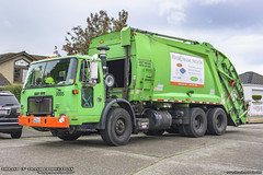 Autocar WXLL - McNeilus Rear Load Garbage Truck (Thrash 'N' Trash Prodcutions) Tags: garbage trash refuse truck recycle recycling trucks mcneilus heavy duty rear loader rl rel autocar xpeditor wxll lowentry volvo whitegmc xpeditorlowlevel rubbish sanitation disposal waste colection vehicle recology cleanscapes seattle washington green orange municipal sanitary service dumpster dustbin toter can cart bin container wheeliebin curbside recyclables trashmonkey22