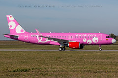 Viva_A320_HK-5273_20181012_XFW-4 (Dirk Grothe | Aviation Photography) Tags: viva air columbia a320 hk5273 cancer awareness pink xfw finki