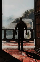 A new beginning #2 (kevin_grimes) Tags: the witcher 3 tw3 cd projekt red portrait door sky clouds mountains balcony