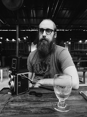 Brian (BurlapZack) Tags: olympustoughtg5 vscofilm pack06 dentontx harvesthouse portrait photographer bw mono monochrome table camera mintinstaxcamera fujiinstax beer beard keepdentonbeard glass glasses sit wideangle pointandshoot compact digitalcompact advancedcompact waterproofcamera waterproofcompact raw