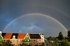 Double rainbow (Marc Rauw.) Tags: wideangle rainbow colorful colours colors colourful dome circles circle circular nature sky weather rain landsmeer netherlands holland mzuiko918mm mzuiko 918mm olympusomdem5markii olympus omd em5 atmosphere