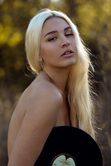 Anna (Stacey Shay) Tags: girl woman model record vinyl blonde beauty retro natural nature outdoor implied missouri portrait photography photographer