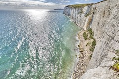 From the tip of the cliffs (E.K.111) Tags: perspective oldharryrocks nature sea sun hdr studland england unitedkingdom gb