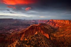 Crimson Canyon (David Shield Photography) Tags: grandcanyon nationalpark arizona southwest landscape sunset twilight sky clouds color light nikon breastcancerawarenessmonth southrim