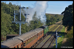 No 34081 92 Squadron 29th Sept 2018 North Yorkshire Moors Railway Steam Gala Gothland (Ian Sharman 1963) Tags: no 34081 92 squadron 29th sept 2018 north yorkshire moors railway steam gala gothland class wc bb west country and battle of britian 462 station engine rail railways train trains loco locomotive passenger heritage line nymr whitby grosmont goathland pickering