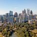 Aerial Image of Atlanta Skyline from Piedmont Park.