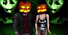 ♥1139♥  Happy Halloween (Tilly & Brayden Thirdborn (Tilly Arun)) Tags: halloween halloweenfashion halloweenstyle secondlife secondlifeblog cosmopolitan maitreya signature lenox canimal kzposes pumpkin pumpkinhead