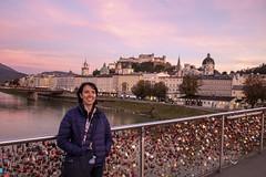 Pink (noname_clark) Tags: vacation europe austria katheirne bridge dusk pink salzachriver river water lock sunset