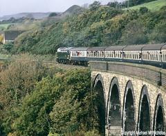 D200 On A Viaduct In Cornwall (Michael McNicholas) (Neil Harvey 156) Tags: railway d200 40122 cornwall traintours thepenzancefryer railtour class40 brgreen whistler michael mcnicholas