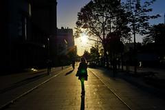 Porte de Vincennes (Calinore) Tags: france paris city ville morning matin portedevincennes silhouette woman femme